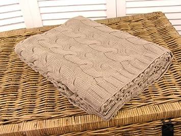 Kuscheldecke Sofa Decke Strickdecke Zopfmuster grau Deko Shabby ... | {Küchen landhausstil grau 28}