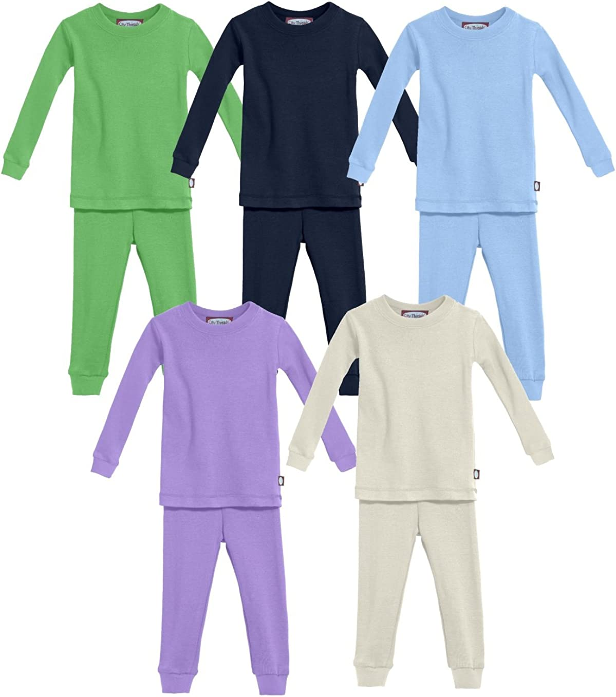 City Threads Boys and Girls Pajama Set PJs Organic Cotton Made in USA