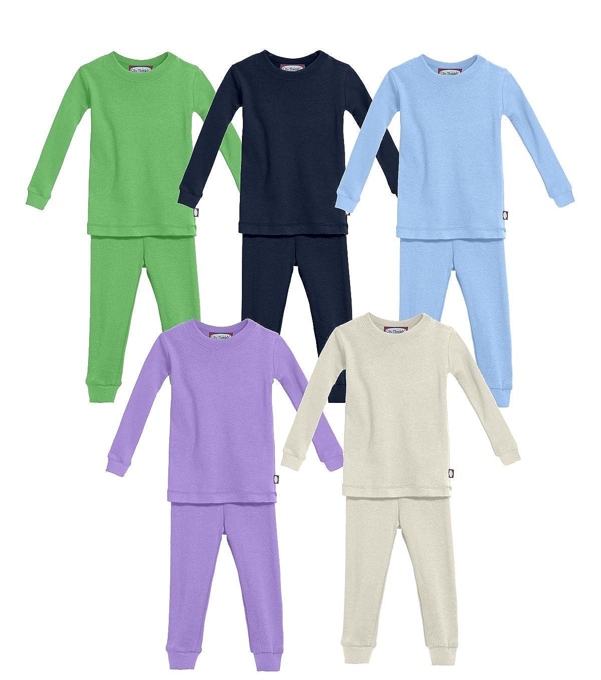 City Threads Boys Girls Pajama Set PJS Organic Cotton Made in USA