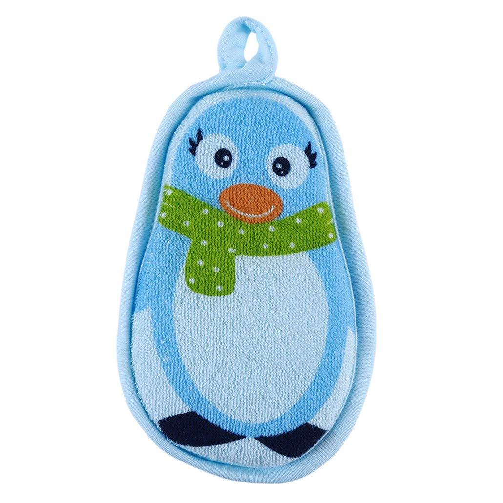 HAOWANG Kids Shower Cute Newborn Wash Soft Sponge Brushes Bathtub Scrubber Bath Rub Body Gift