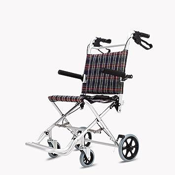 Silla de ruedas plegable portátil multifuncional silla de ruedas plegables de aluminio ligero de aluminio para niños (Size : 68*34*57cm) : Amazon.es: Hogar