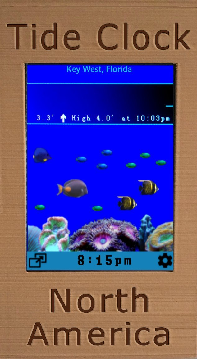 Digital Tide Clock North America by WeND - Pacific / Atlantic / Gulf of Mexico : USA, Canada - 5,500+ sites across the continent. Plus Digital Aquarium. by Wend