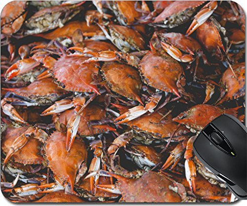 MSD Mousepad Mouse Pads/Mat design 30240971 Fresh crab at American fish market