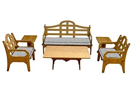 Delicieux 6 Piece Bamboo Sofa Set (1 Sofa, 2 Lounge Chairs, 1 Cocktail