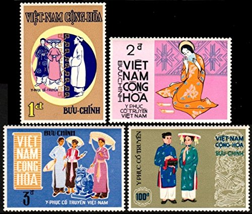 [South Vietnam Stamps - 1970, Sc 370-3 Costumes - MNH, F-VF] (Postage Stamp Costume)