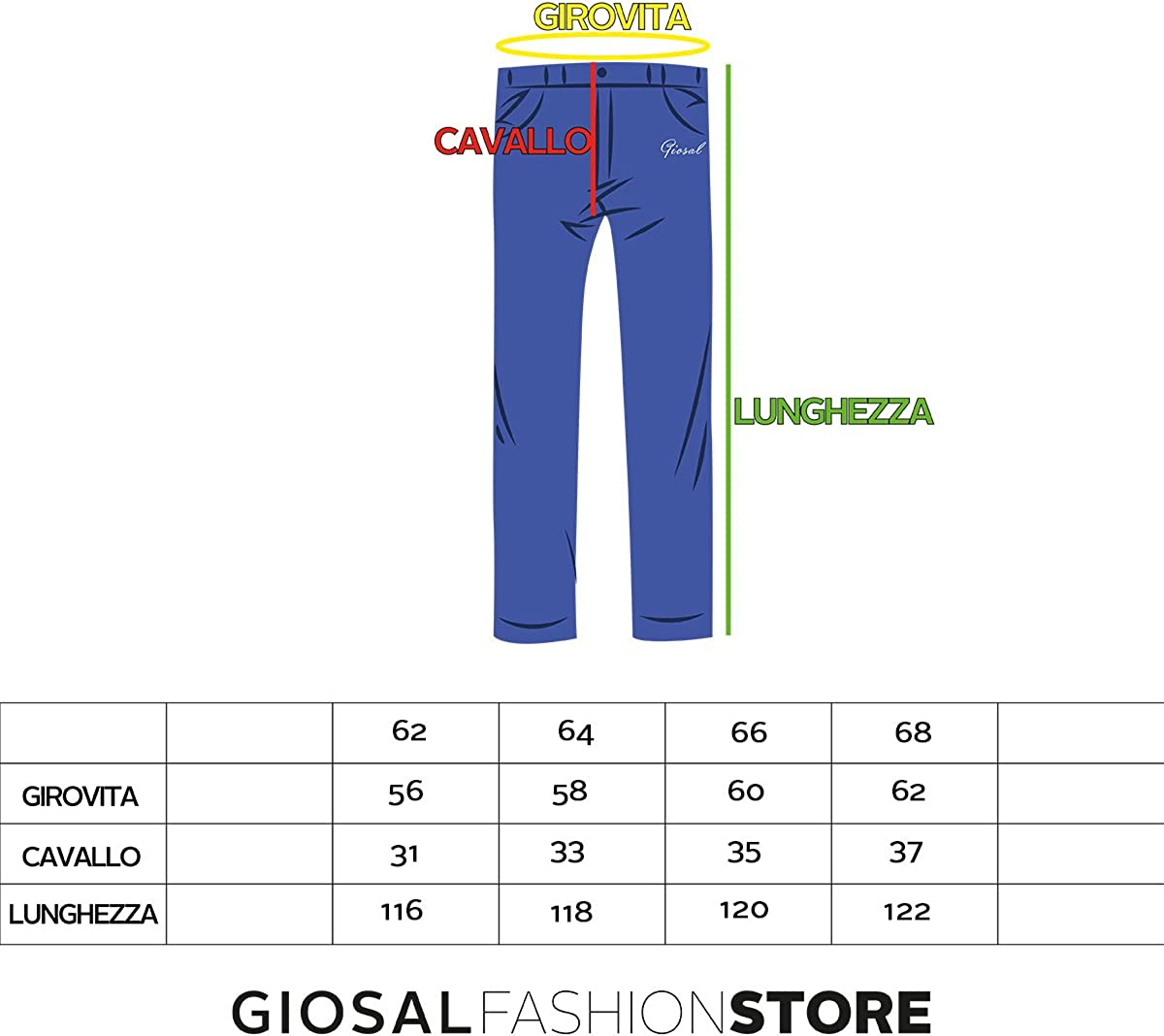 Pantalone Uomo Comfort Taglie Forti Made In Italy Calibrato Denim Jeans GIOSAL