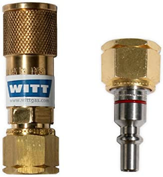 Witt propano Gas acoplamiento rápido + Lápiz Set 1/4 izquierda rosca camping gas acoplamiento rápido acoplamiento Gas barbacoa parrilla de gas ...