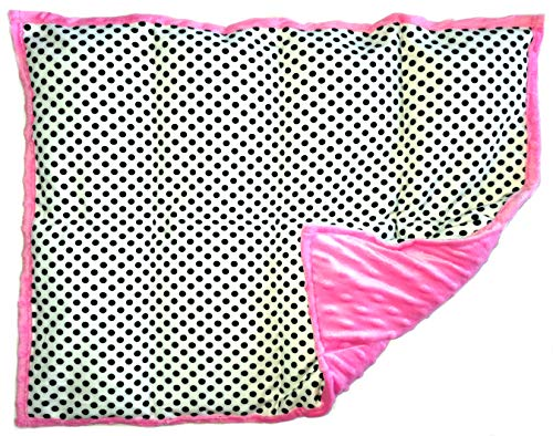 Pink Dot Print - Weighted Lap Pad - Weighted Lap Blanket for Kids - Portable Sensory Support - Choose from Multiple Sizes & Prints - 7 lbs Polka Dots on Pink