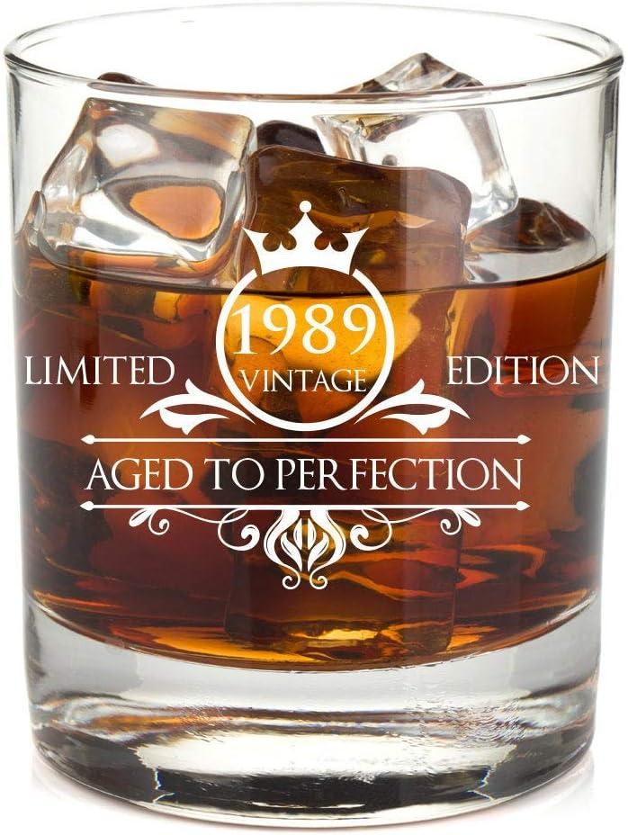 1989 mari papa /épouse. Id/ée cadeau pour maman Verre /à whisky pour 30e anniversaire pour homme et femme