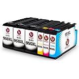 Uoopo Compatibile Sostituzione per HP 950XL 951XL Cartucce d'Inchiostro (3 Nero 1 Ciano 1 Magenta 1 Giallo) per Stampante HP Officejet Pro 8600 Plus 8620 8610 8100 276dw 251dw 8615 8625 8630 8640 8660 271dw