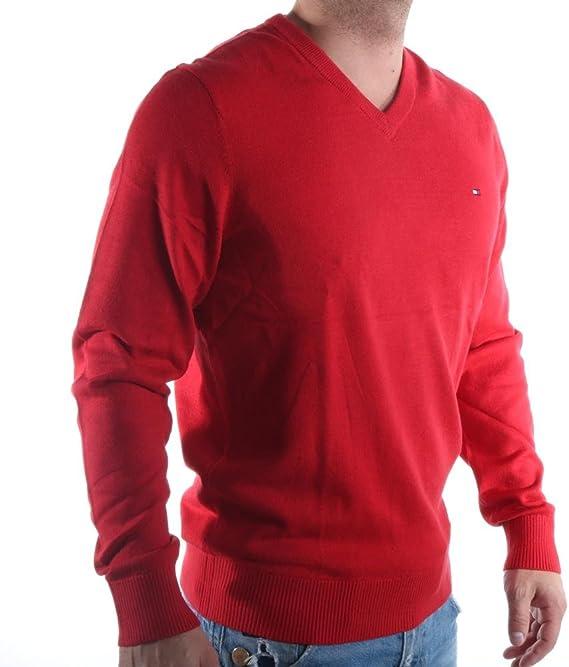 Tommy Hilfiger Cotton Silk Vneck su/éter para Hombre