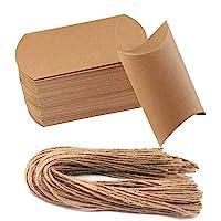 awtlife 50pcs Vintage papel kraft natural almohada cajas
