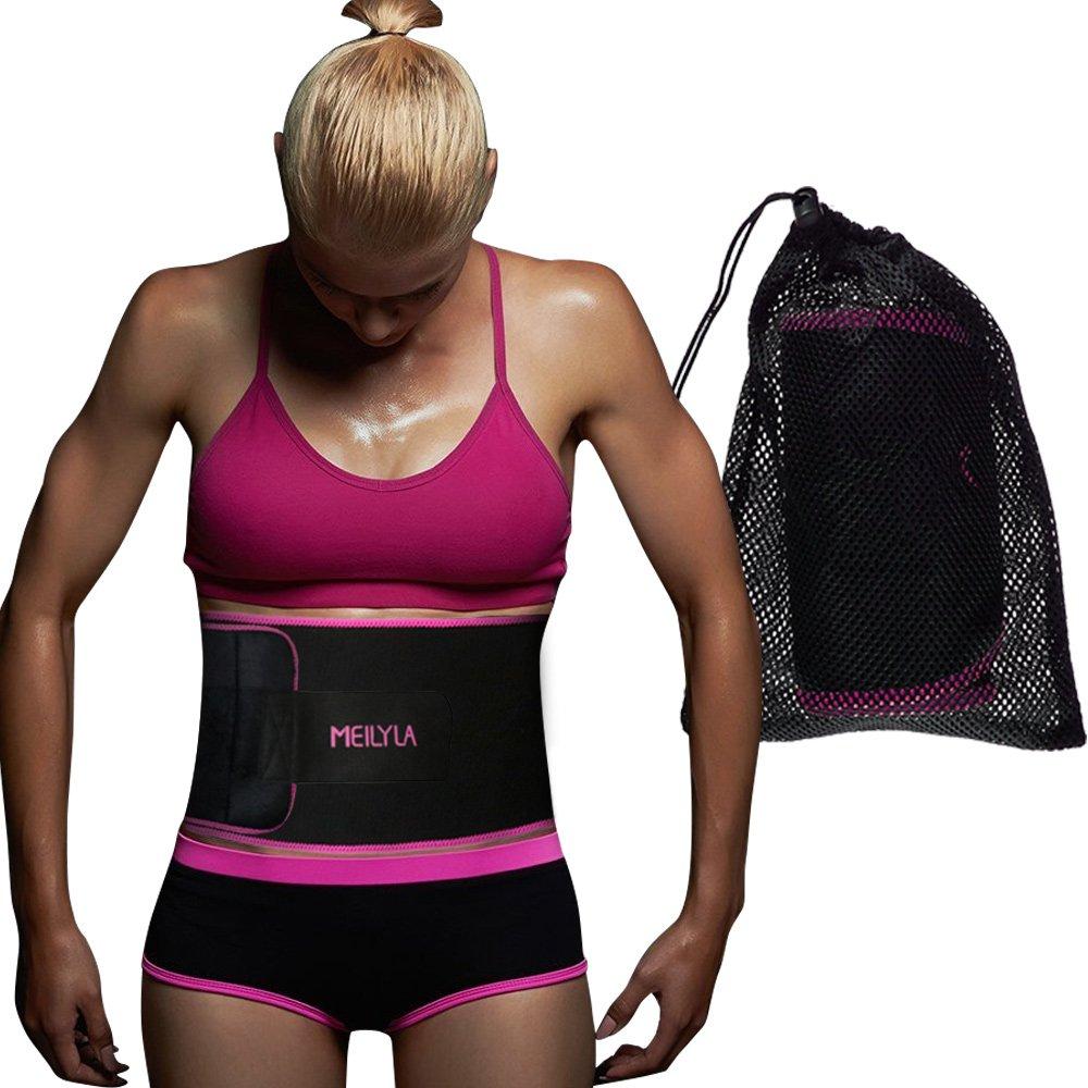 MEILYLA Waist Trimmer Premium Weight Loss Belt for Men//Women Workout Sweat Enhancer Exercise Adjustable Wrap for Stomach Abdominal Muscle jinanguijiangshangaoyouxiangongsi