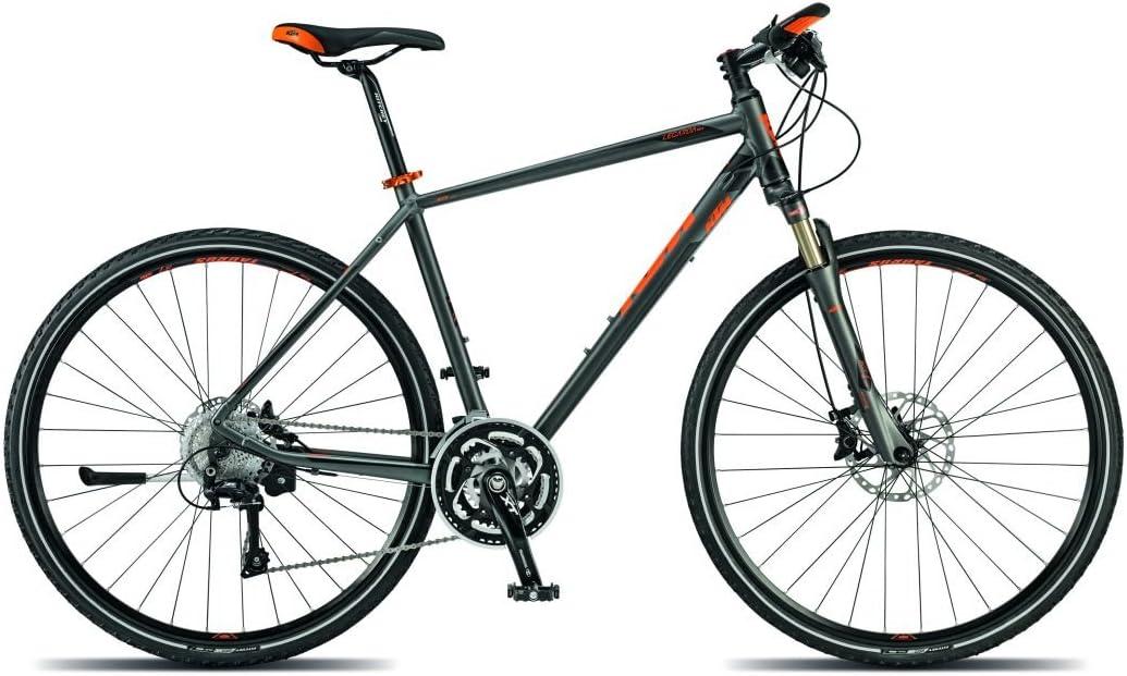 KTM Legarda Race Hombre bicicleta híbrida 2015, gris mate negro ...