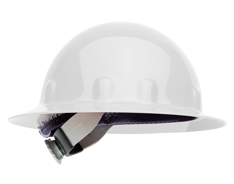 Fibre-Metal by Honeywell E1SW01A000 Super Eight Full Brim Swing Strap Hard Hat, White