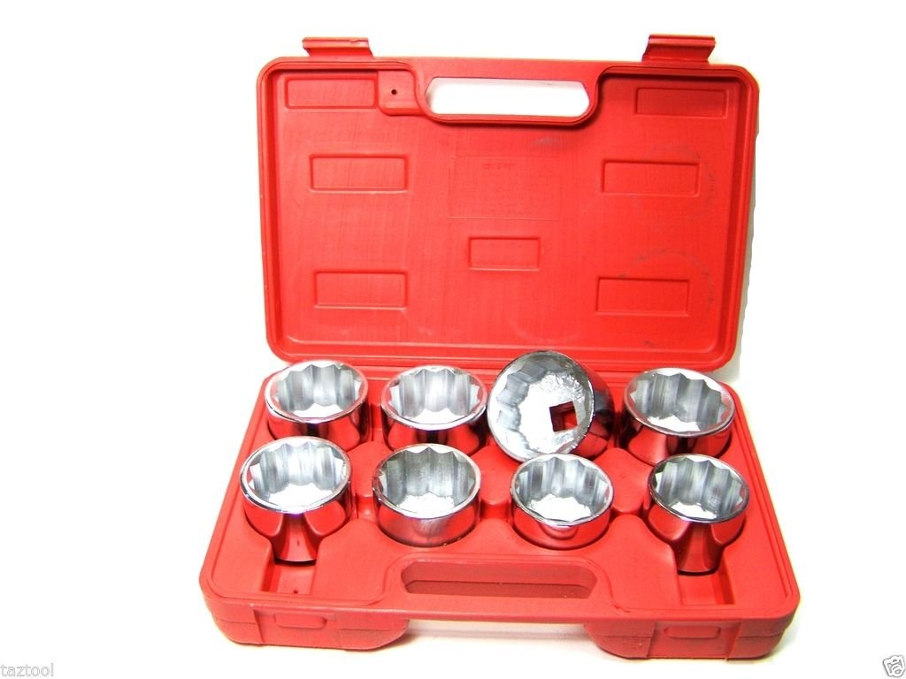 9 PC 3/4'' DRIVE SOCKET SET 2-1/16'' TO 2-1/2'' 12 POINTS SOCKETS ADD ON CHROME DR