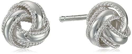 5b6635b80 Image Unavailable. Image not available for. Colour: Sterling Silver Love Knot  Stud Earrings