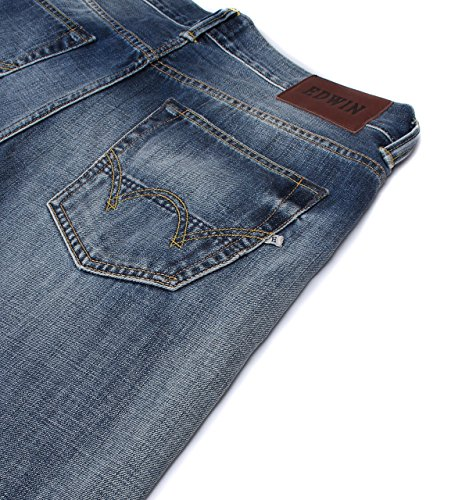Edwin ED-80 Dark Blue Washed Slim Tapered Jeans