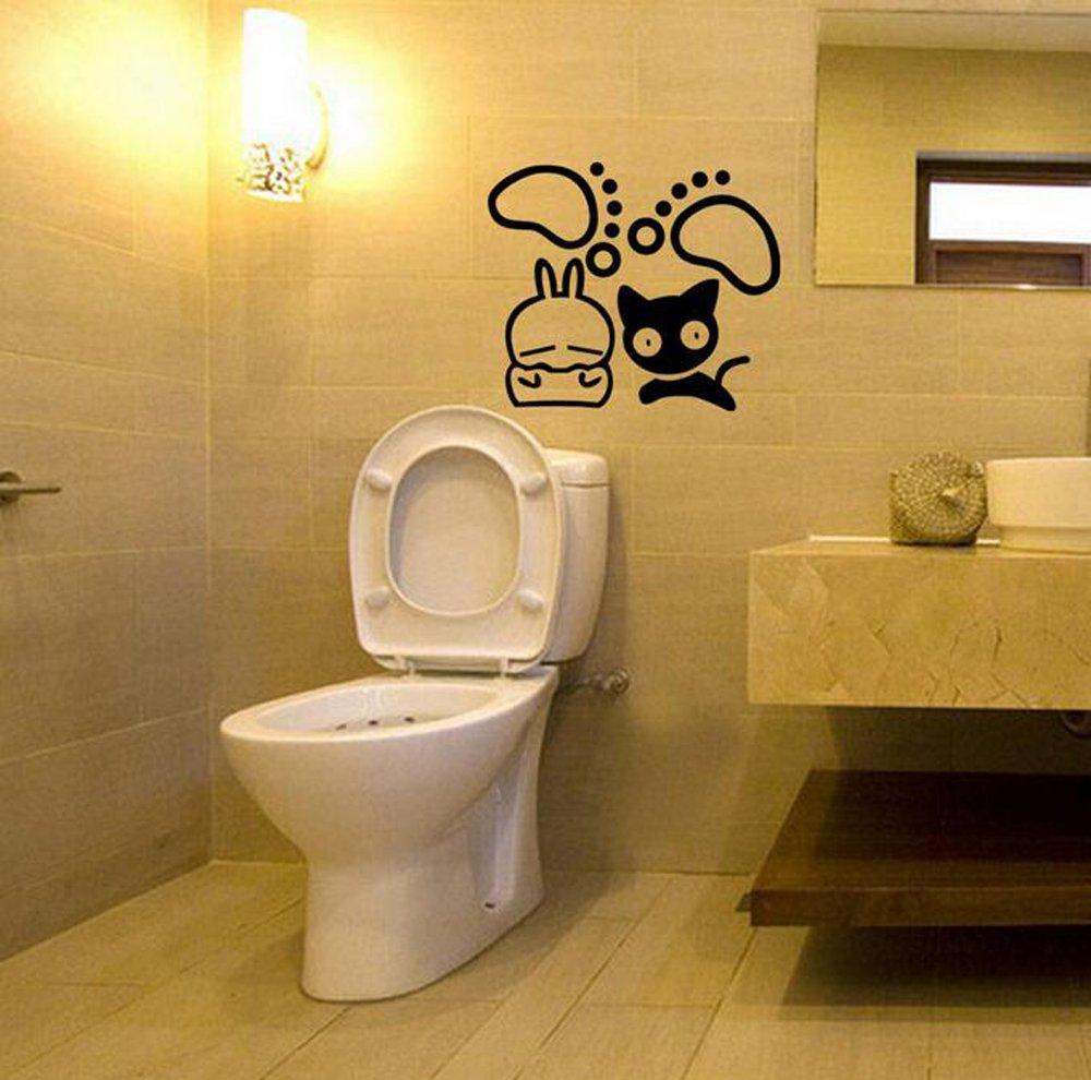 Amazon.com: Winhappyhome Voyeur Toilet Stickers Bedroom Background ...