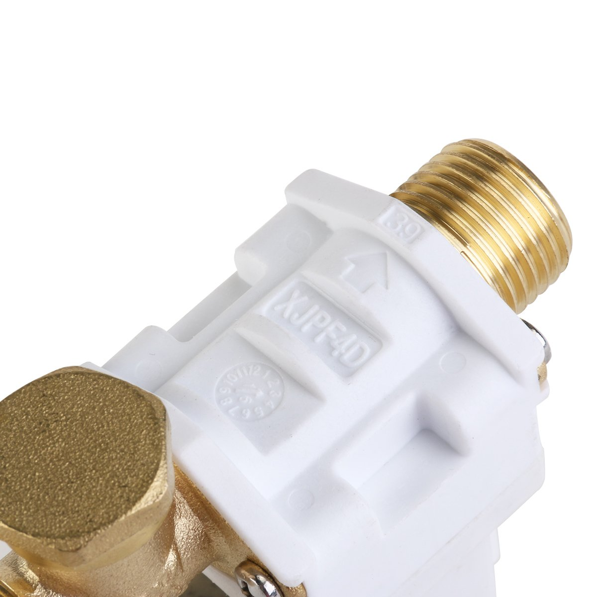 3//8inch 12VDC Hose Barb Electric Solenoid Valve Plastic Body 12-volt DC for Automatic Faucets Drinking Fountains-no Pressure,white /& black R TOOGOO