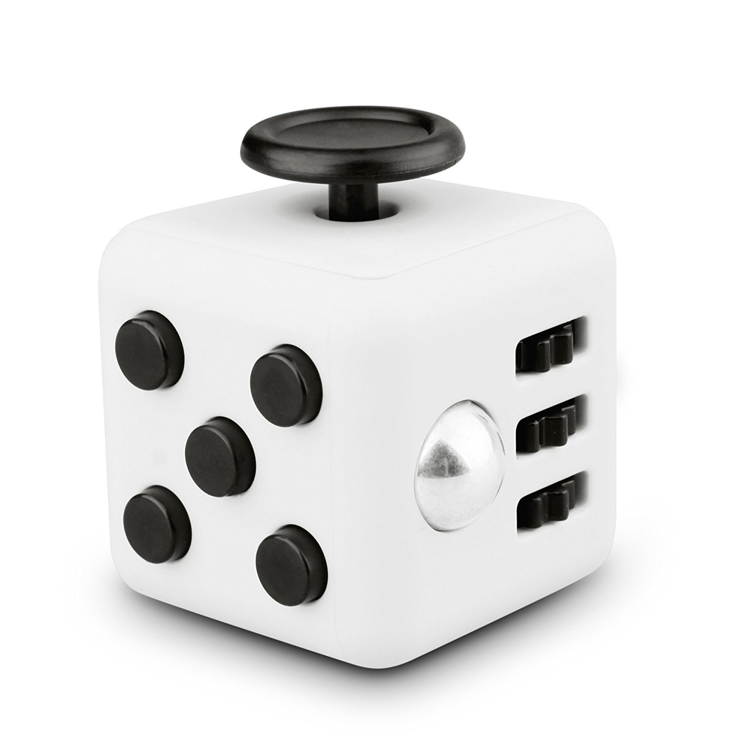SmartToys Decompression Fidget Cube, Anti-Anxiety Decompression Dice for Children and Adults Black+White Parbeson
