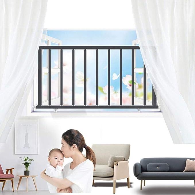 QIANDA Protección De Ventana for Bebé Rejas De Seguridad Seguridad Infantil Protectores De Ventana Barras De Rejilla Instalación Fácil - Tamaño Personalizado (Color : Black, Size : L50cm x H40cm): Amazon.es: Hogar