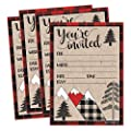 25 Woodland Christmas Holiday Party Invitations, Winter Bridal or Baby Shower Invite, Snowflake Birthday Invitation Wedding Rehearsal Dinner Invites, Bachelorette Reception Anniversary, Housewarming