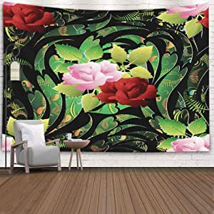 N\A Tapiz Decorativo, Estilo Popular Patrón de Rosas Fondo