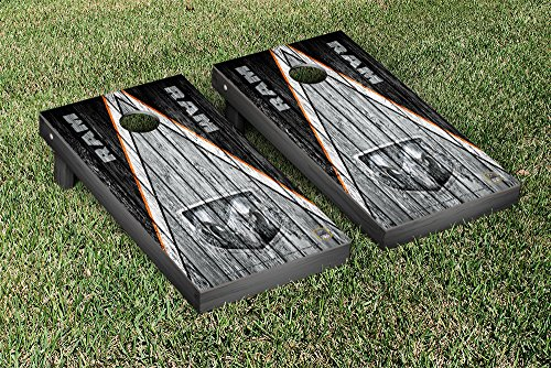 Ram Trucks Regulation Cornhole Game Set Weathered Triangle Version by Victory Tailgate