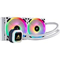 Corsair Hydro Series, H100i RGB PLATINUM SE, 240mm Radiator, Dual LL120 RGB PWM Fans - White