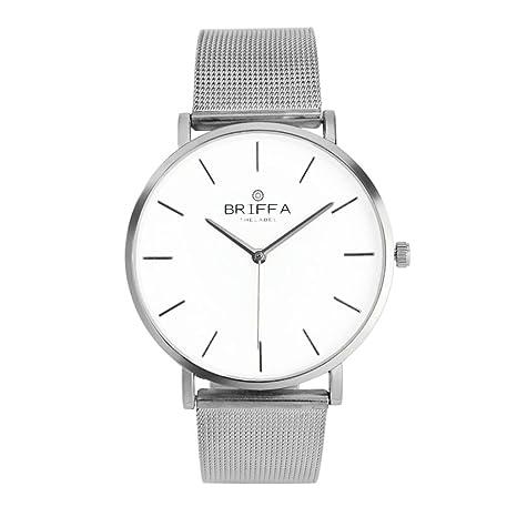 Orologio da polso uomo classico in acciaio da polso al quarzo orologi  casual ab38b7ac453