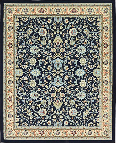 Persian Rug (A2Z Rug 8-Feet-by-10-Feet Covent Garden Persian Traditional Design Rug, Navy Blue)