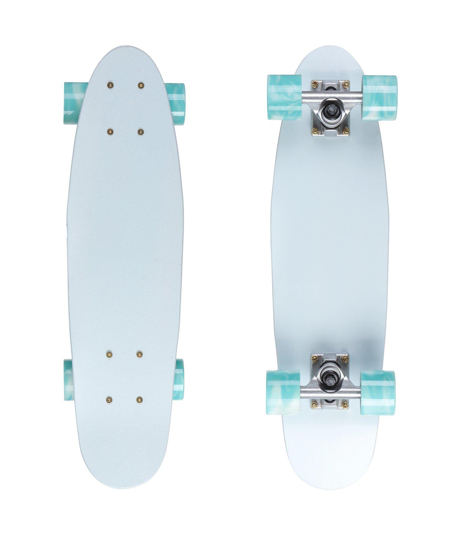VOLADOR 22inch Mini Cruiser Skateboard - maple skateboard complete (Moon)