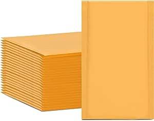 "50PCS #000 4x8/"" Golden Kraft Bubble Padded Shipping Envelope Mailers Bag"