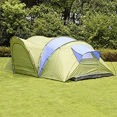 Goplus® Large 6-8 Person Waterproof 2+1 Room Hiking Camping Tunnel Family Tent