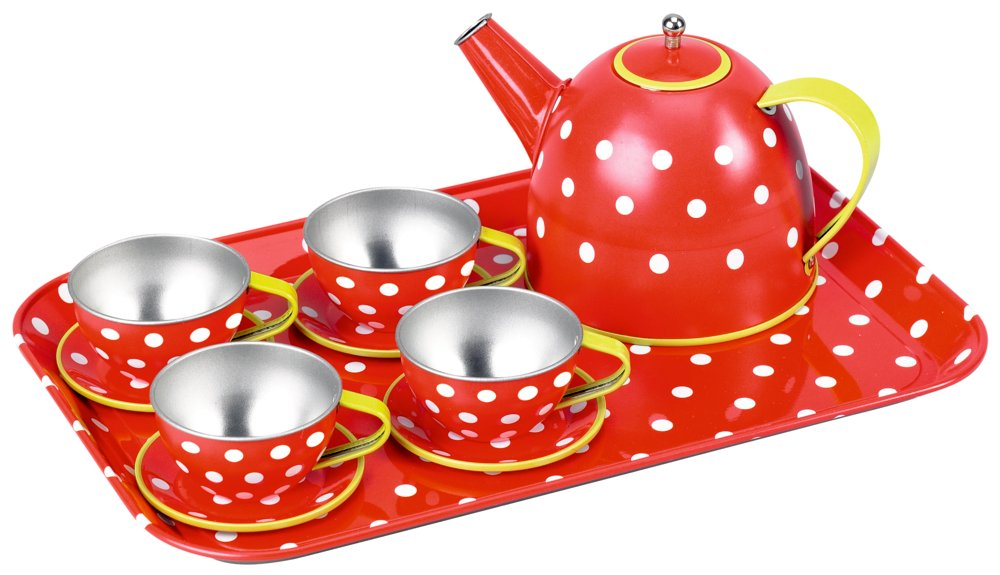 Spielgeschirr Metall - Die Spiegelburg Tee Set Fröhliche Tupfen