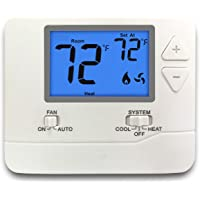 ELECTECK Digital Thermostat with Large LCD Display, Non-Programmable, Compatible with Single Stage Electrical and Gas…
