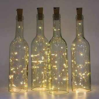 Sharp Ton 12 x 20 LED 2 m botellas de luz blanco cálido, LED luz ...