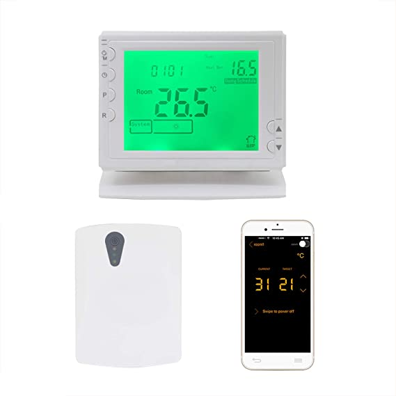 Termostato caldera inalambrico smartphone termostato wifi bateria ...