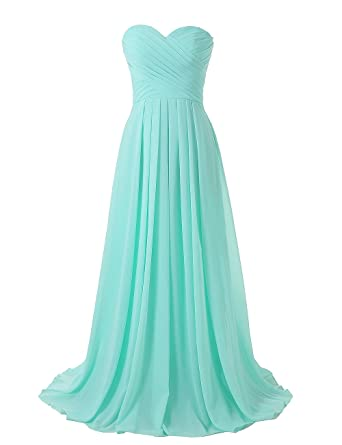 Kiss Dress Strapless Long Bridesmaid Dresses Chiffon Sweetheart ...