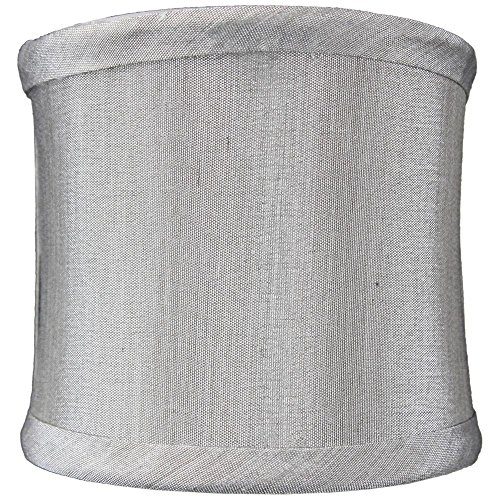 4x4x4 Grey Shantung Clip-On Sconce Half-Sconce Lampshade By