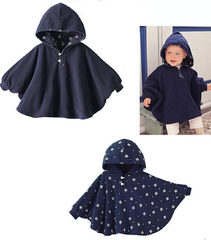 Amorar Manteau de Cape Cloak Coat B/éb/é Sweat /À Capuche Poncho Veste dhiver pour Tout-Petit Cape /à Capuche Coupe-Vent V/êtements Dext/érieur pour B/éb/é Fille Gar/çon