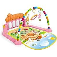 Tapete Atividades Infantil Com Arco e Piano Musical Color Baby Rosa