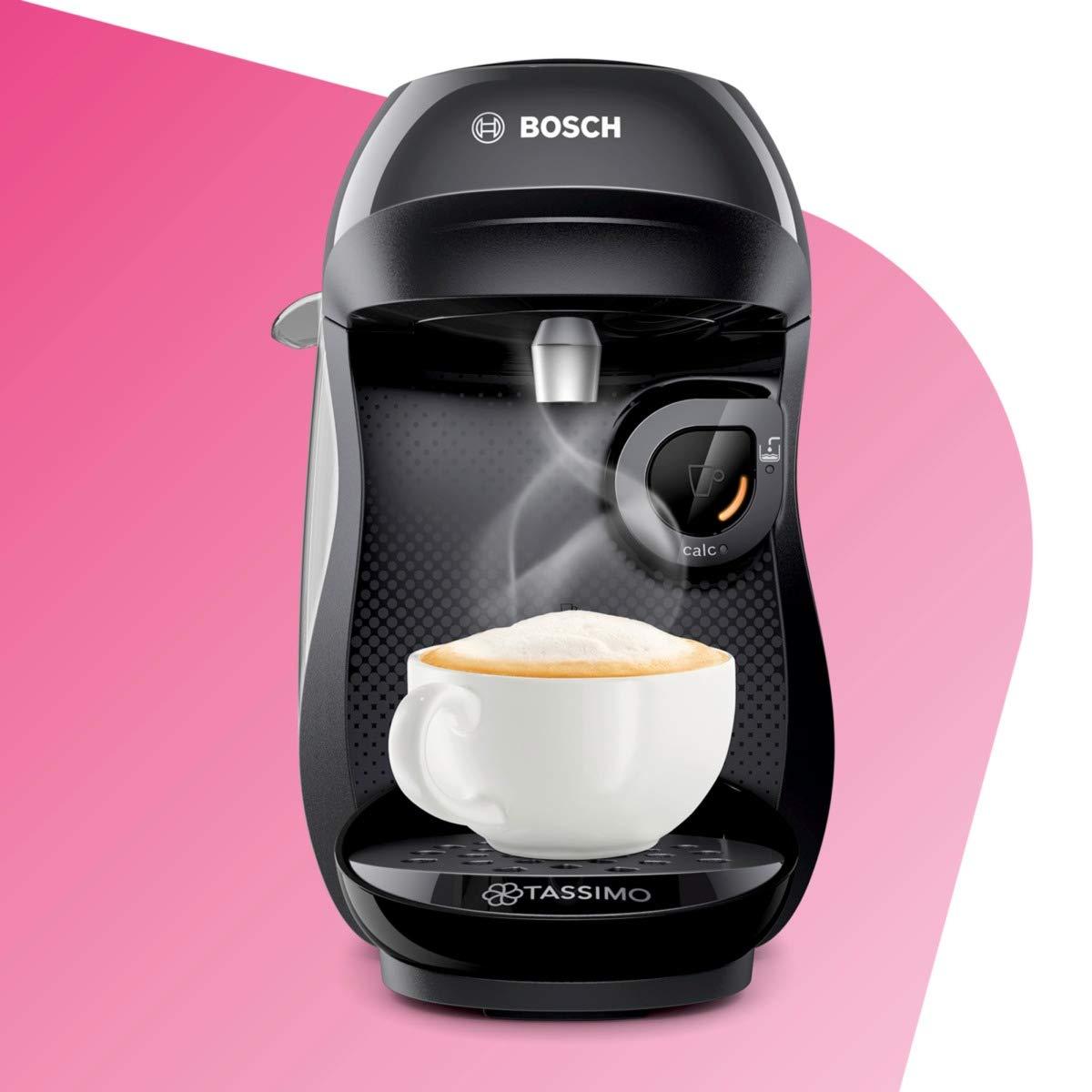 Bosch TAS1002 TASSIMO Happy Cafetera de cápsulas, 1400 W, color negro