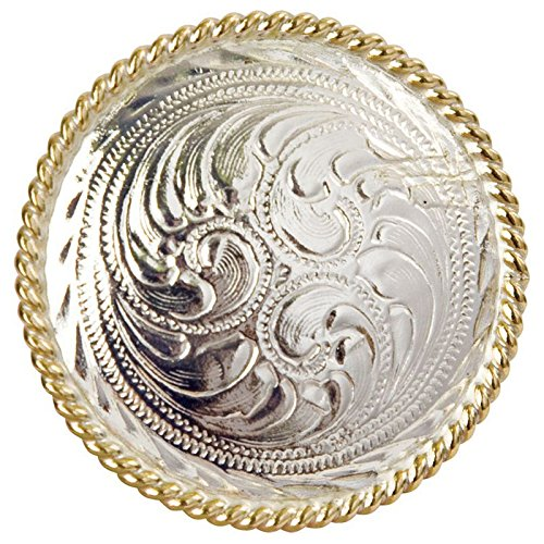 M F Western Products Mens Plated Engraved Scarf Slide Silver