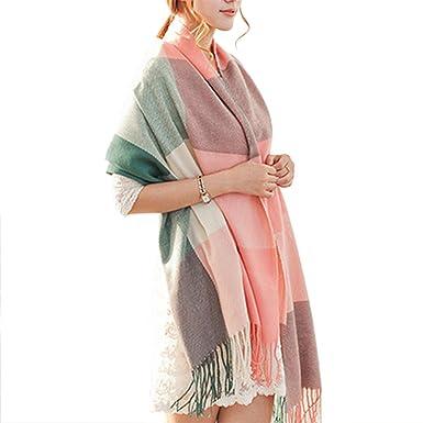 339e4068cd3 Demarkt Femme Longue Écharpe Châle Souple Couleur Unie Belle Elégant  Écharpe Accessoire Pour Automne Hiver -