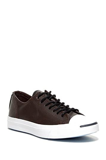 Converse Unisex Jack Purcell Tumbled Leather Ox Burnt Umber 5 Men/Women 6.5