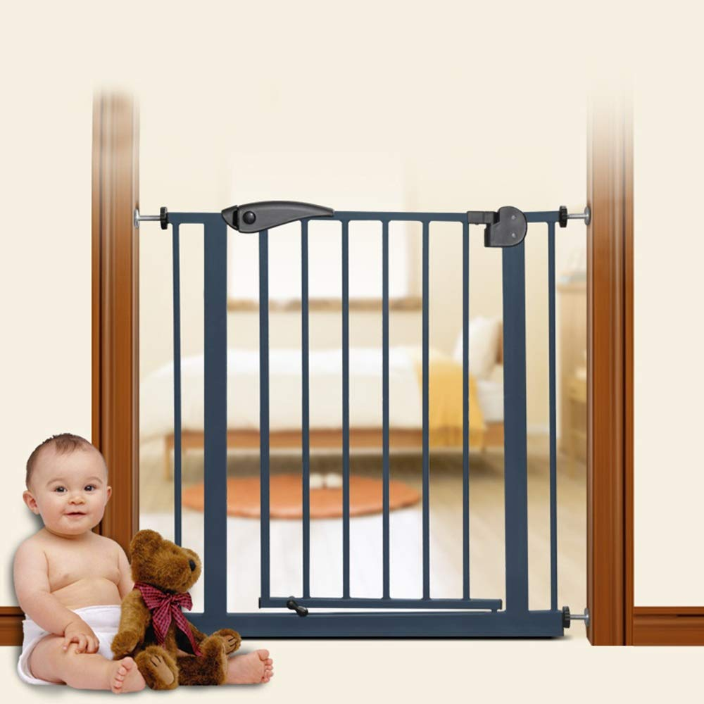 Size : 66-84cm MAHZONG Bed Rails Child Safety Gate Fence Stair Guardrail Baby Fence Baby Isolation Door Guardrail Fence 66-164cm*77cm