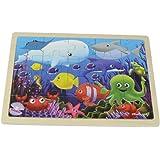 Masterkidz Sea Creatures Wooden Jigsaw Puzzle,Multicolor
