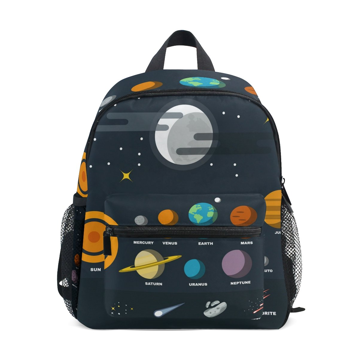 ISAOA 3D Printed Solar System Kids Backpacks Kindergarten Preschool Toddler Boys/Girls Bookbag Cute Schoolbags for Age 2-8 Child sjb-007